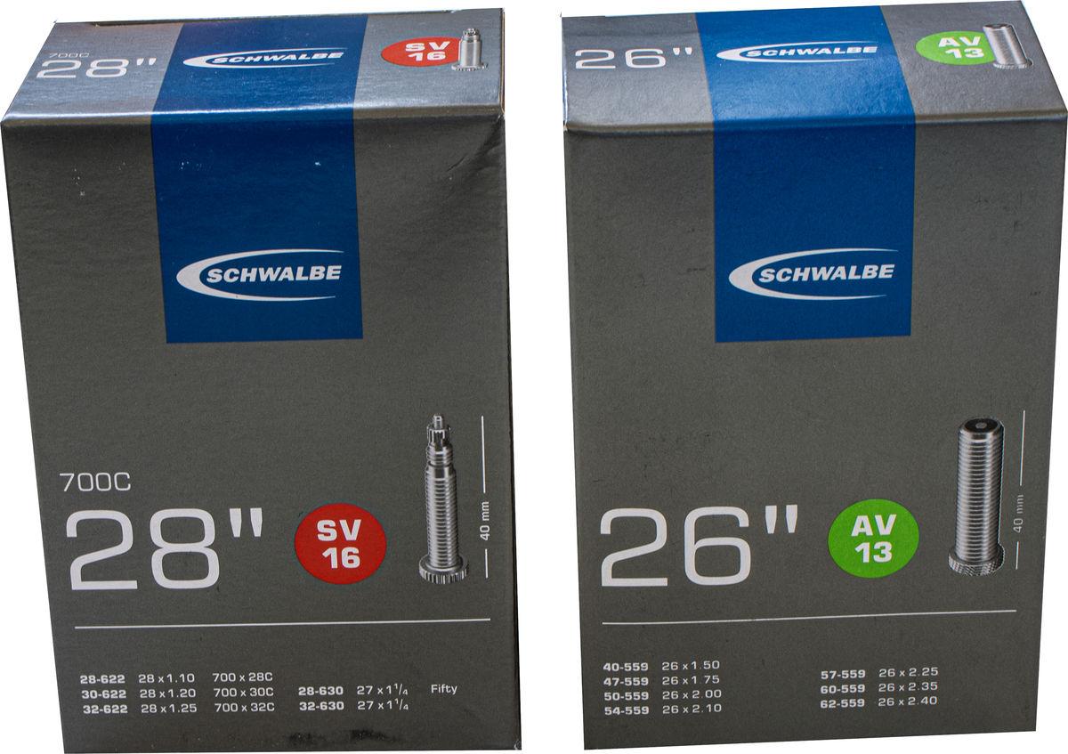 "40mm Schwalbe SV16 Presta 28/"" 700c 28-622 to 32-630 Tube Inner tube"