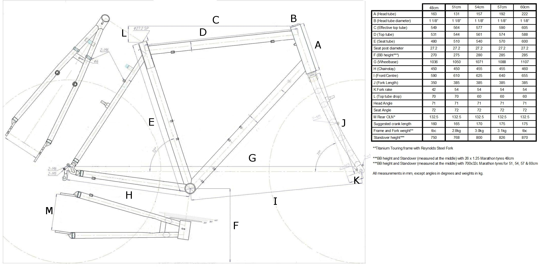 Spa Cycles Steel Tourer Frame And Forks 37500 Parts Bicycle Diagram The Of Is Click Here For Suggested Methods To Establish Correct Size